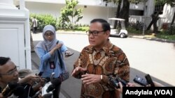 Gubernur Bank Indonesia Agus Martowardojo di komplek Istana Kepresidenan. (Foto: Dok)
