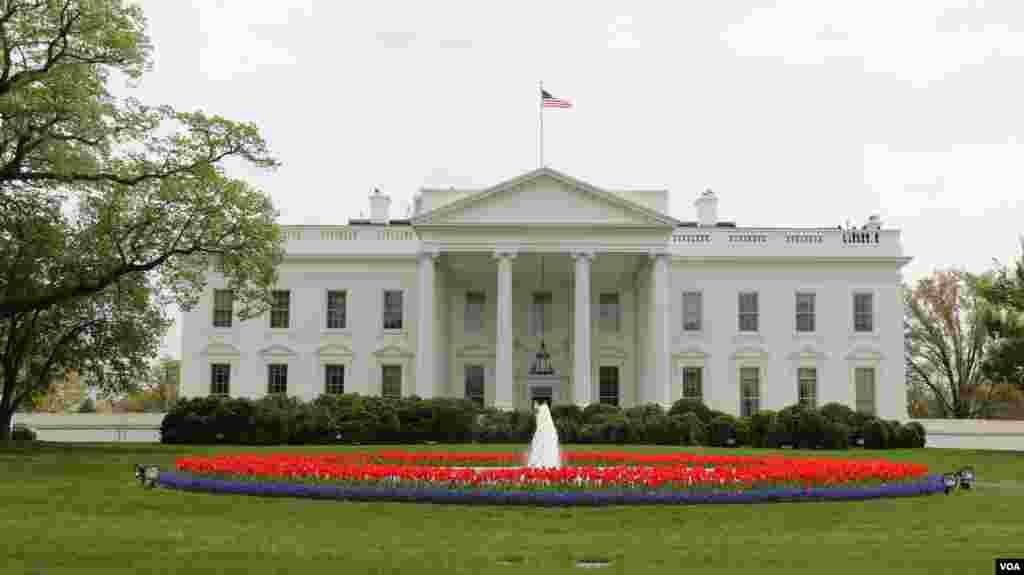 美国总统官邸白宫(美国之音 亚微拍摄)