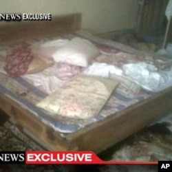 This video frame grab, obtained from ABC News on May 2, 2011, shows the interior bedroom in the mansion where Osama Bin Laden was killed May 1.