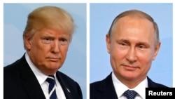 川普(左)與普京(右) (資料圖片)