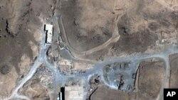 2007年8月5日拍摄的卫星图像显示叙利亚一处可能是核反应堆的地点