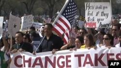 Protest pristalica imigracione reforme u Vašingtonu