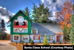 Hundreds of Santas attend classes at the Santa House each year to learn how to be a good Saint Nick.