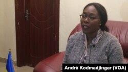 Madeleine Alingué, ministre tchadien de la communication porte-parole du gouvernement, N'Djamena, le 25 septembre 2017. (VOA/André Kodmadjingar)