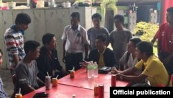 ေဆးရံုတက္ေရာက္ကုသမႈခံယူခဲ့ရသည့္ ျမန္မာပရိသတ္မ်ားအား ျမန္မာႏိုင္ငံေဘာလံုးအဖဲြ႕ခ်ဳပ္မွ လာေရာက္ ႏွစ္သိမ့္(Myanmar Football Federation)