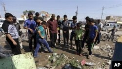 27일 이라크 바그다드에서 발생한 폭탄테러 현장