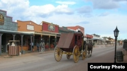 Allen Street in Tombstone shows the town's wild west roots