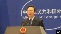 中國外交部發言人洪磊(資料照片)