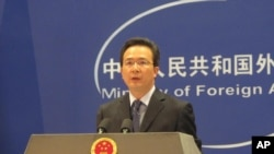 中國外交部發言人洪磊 (資料照片)