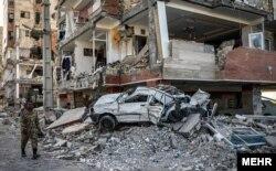 ویرانی شدید پروژه مسکن مهر در سرپل ذهاب