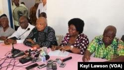 L'opposition togolaise à Lomé, au Togo, le 26 mars 2018. (VOA/Kayi Lawson)
