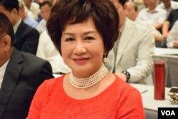 香江文化交流基金會主席江素惠。(美國之音湯惠芸)