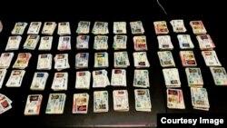 美國海關和邊境保護局在肯塔基州查獲來自中國的5000多張偽造身份證件 (美國海關和邊境保護局圖片)