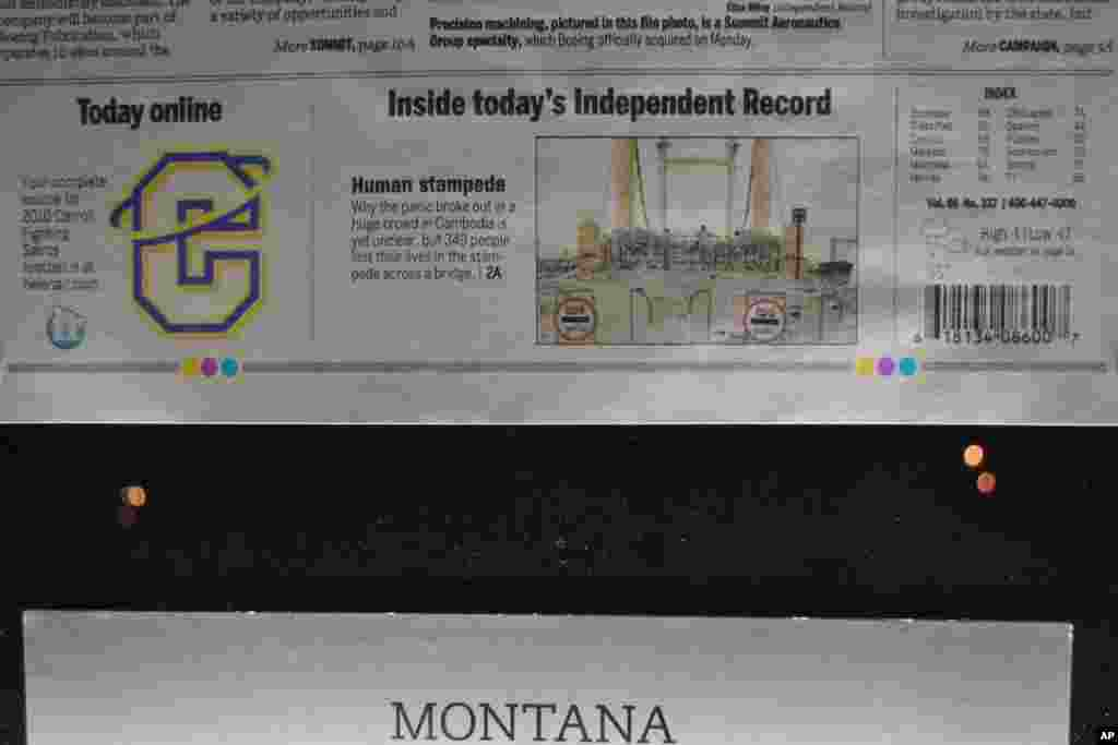 Even a newspaper in the more remote state of Montana features the Cambodian stampede story on its front page.
