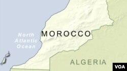 Peta wilayah Maroko.