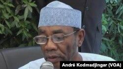 Mahamat Ahmat Alhabo, secrétaire-général du PLD, à N'Djamena, le 23 janvier 2019. (VOA/André Kodmadjingar)