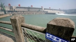 A general view shows the Three Gorges Dam on the Yangtze river in Yichang in central China's Hubei province (file photo)