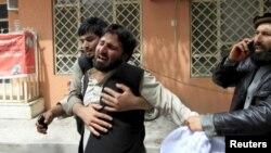 Poprište samoubilačkog bombaškog napada u Avganistanu, 18. april 2015.