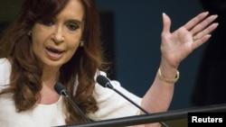 阿根廷总统克里斯蒂娜·费尔南德兹(资料照片)