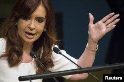 FILE - Former President of Argentina Cristina Fernandez