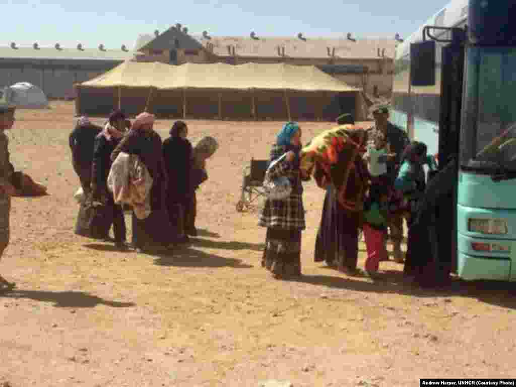 It takes refugees as many as 2-5 days after crossing Jordan's eastern border before they can be moved to the Zaatari camp, in northwestern Jordan. Jordanian Armed Forces cover all costs.