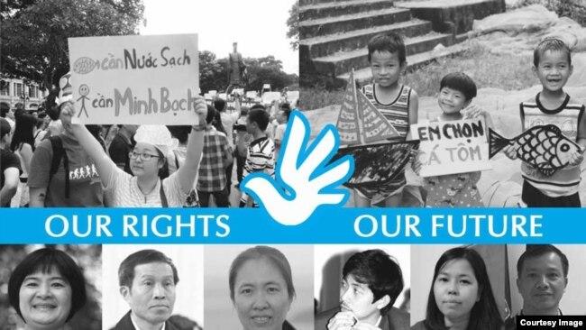 Poster của tổ chức VOICE nhân thời điểm tổ chức UPR của Liên Hiệp Quốc từ 15 tháng Chín.