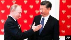 Президенты России и Китая