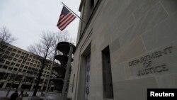 Gedung Departemen Kehakiman AS di Washington, 1 Februari 2018.
