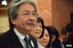 香港特首候選人曾俊華。(美國之音湯惠芸攝 )