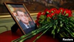 俄罗斯外交部为遇刺身亡的俄罗斯驻土耳其安德烈·卡尔洛夫举行仪式(2016年12月20日)