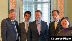 香港泛民主派代表團5月14日到訪白宮,與負責亞太事務的資深主任博明會面(泛民代表團成員楊錦霞提供照片)