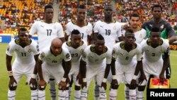 L'équipe ghanéenne de football lors de la CAN 2015 à Malabo, Guinée équatoriale, 1er décembre 2015.