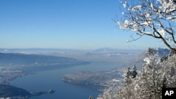 Photo provided by Annecy Tourism Office shows Annecy and its lake, French Alp (File)