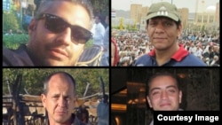 Al Jazeera reports that its journalists--Peter Greste, Mohamed Fahmy, Baher Mohamed and Mohamed Fawzy--are being held after being arrested by Egyptian security forces, Dec. 29. (Al Jazeera)