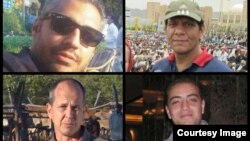 Bốn ký giả đài Al-Jazeera Peter Greste, Mohamed Fahmy, Baher Mohamed và Mohamed Fawzy.
