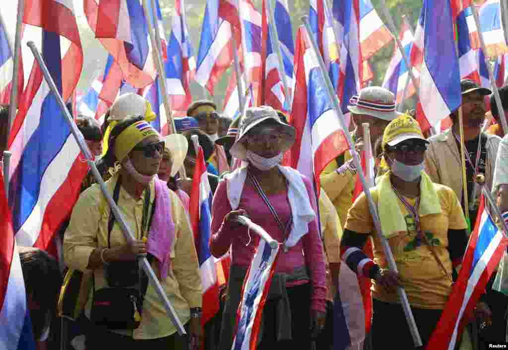 تظاهرات مخالفان دولت تایلند در بانکوک