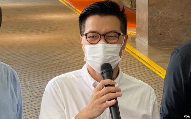 立法会议员,西贡区议员范国威(美国之音/汤惠芸)