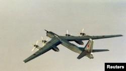 俄罗斯图-95轰炸机。(资料照)