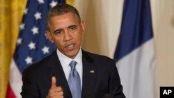 2月11日奥巴马总统在白宫记者会上