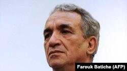 L'ancien ministre algérien des Télécommunications Moussa Benhamadi, le 4 novembre 2012. (Photo by Farouk Batiche / AFP)