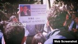 NİDA tərəfdarlarının aksiyası (Foto facebook-da Sancaq səhifəsindən götürülüb)