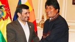 محمود احمدی نژاد و ایوو مورالس بر تقویت همکاری میان دو کشور توافق کرده اند