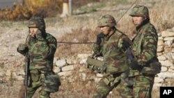 11月26日韩国士兵在延坪岛巡逻