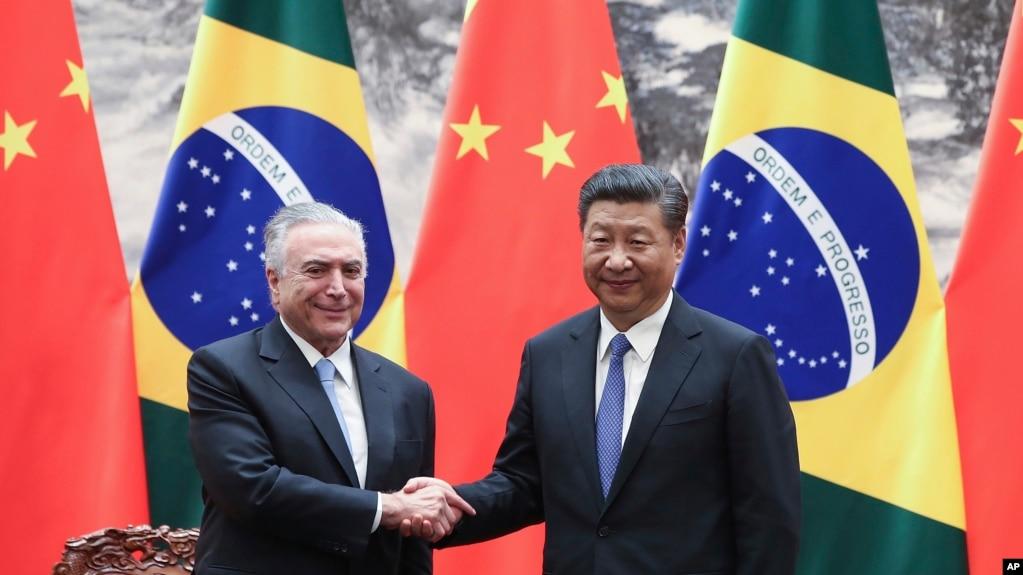 中國國家主席習近平在北京人民大會堂會見巴西總統特梅爾(2017年9月1日)