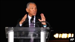 NASA Administrator Charles Bolden congratulates SpaceX after the rocket was launched successfully. (Reuters)
