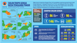 Data BNPB mengenai dampak siklon tropis Seroja di NTT. (Foto: Courtesy/BNPB)