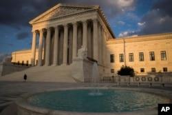 미국 워싱턴의 연방 대법원.