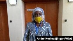 Fyl Agoïd présidente de l'Union des Organisations des Femmes Vendeuses de poisson du Tchad, le 8 juillet 2020. (VOA/André Kodmadjingar)