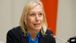Мартина Навратилова в ООН. Декабрь 2013