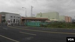 龙门电厂(核四厂)入口处(美国之音申华拍摄)